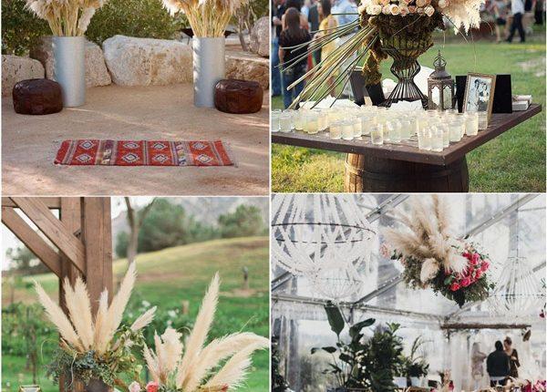 Boho Pampas Grass Wedding Decor Idea