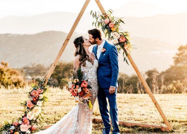 Boho Triangle Wedding Backdrop