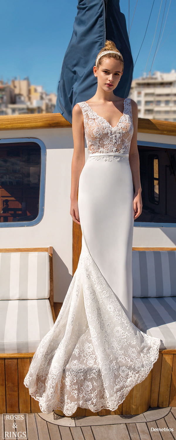 Demetrios Destination Beach Wedding Dresses 2019 Roses