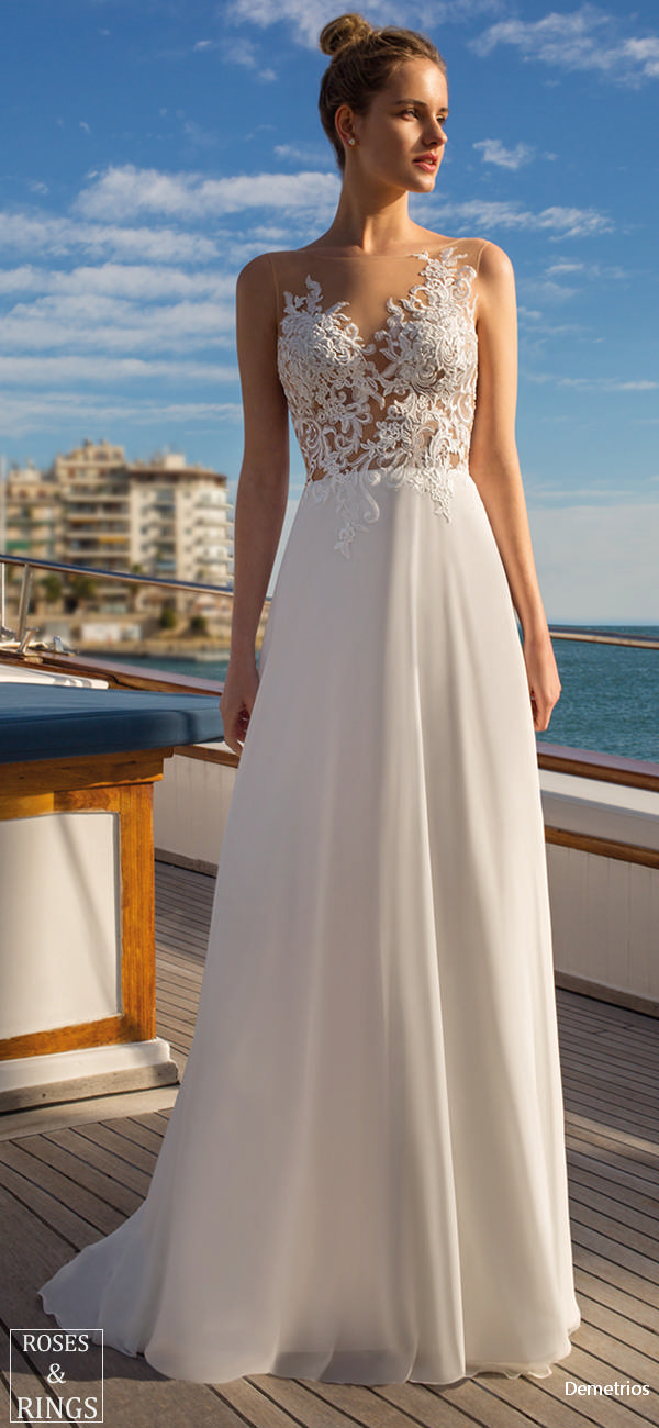 Demetrios Destination Beach Wedding Dresses 2019