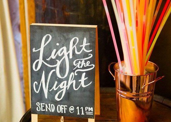 Light the Night DIY Wedding Chalkboard Sign