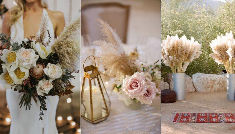 Pampas Grass wedding decoration idea