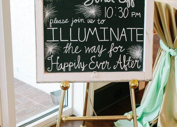 Wedding Sparkler Send Off Chalkboard Sign