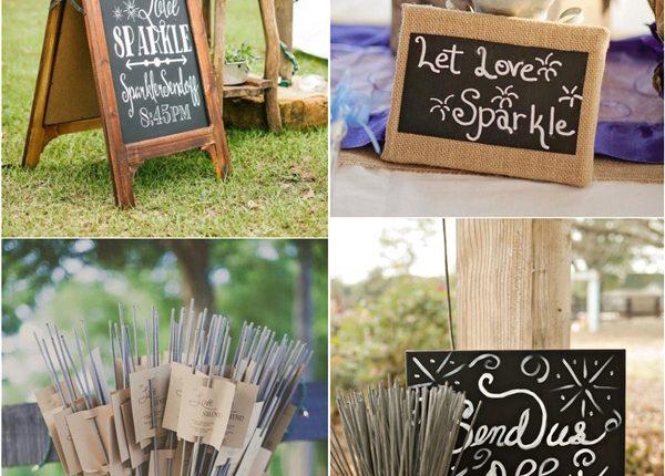 rustic country wedding sparkler send off ideas