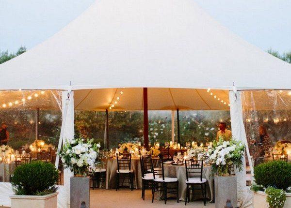 2019 trending rustic chic tented wedding reception ideas