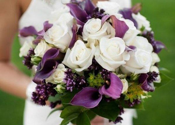 Apricot Wedding Bouquet, calla lilies wedding bouquet