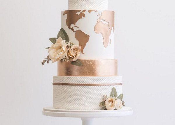 Copper World Wedding Cake