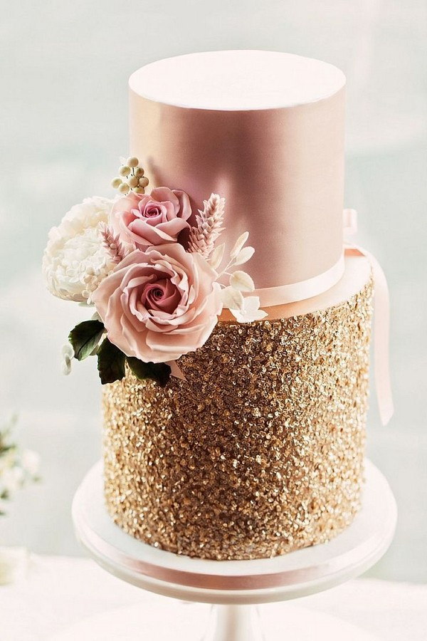 Wedding Cake Trends 20 Metallic Wedding Cakes Roses