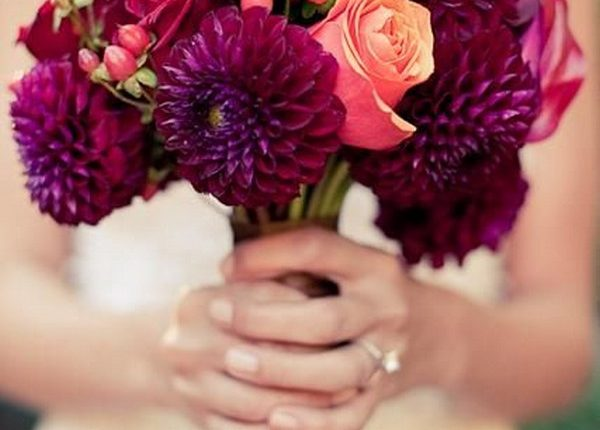 Pink & Purple Wedding Bouquet
