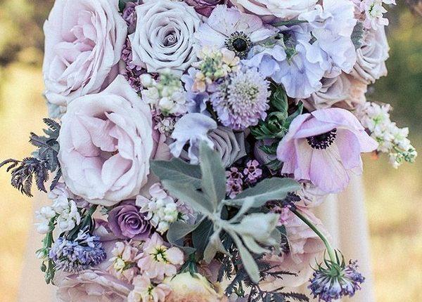 Stunning Lavender and Blush Lush Wedding Flower Ideas