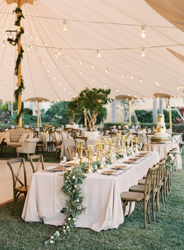 Chic Rustic Tented Wedding Reception Ideas Roses Rings