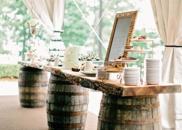 country rustic tented wedding reception ideas