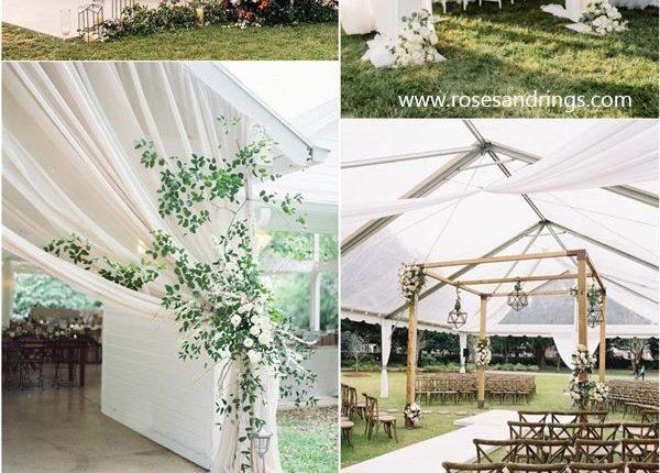 Outdoor Wedding Decor Ideas Tented Wedding Decor Ideas Roses