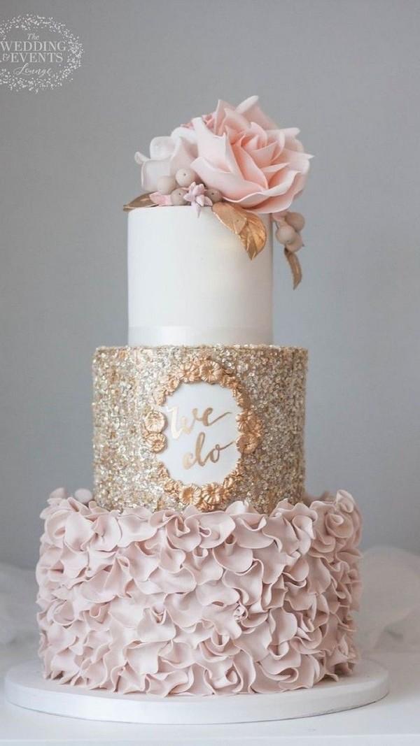 Wedding Cake Trends 20 Metallic Wedding Cakes Roses