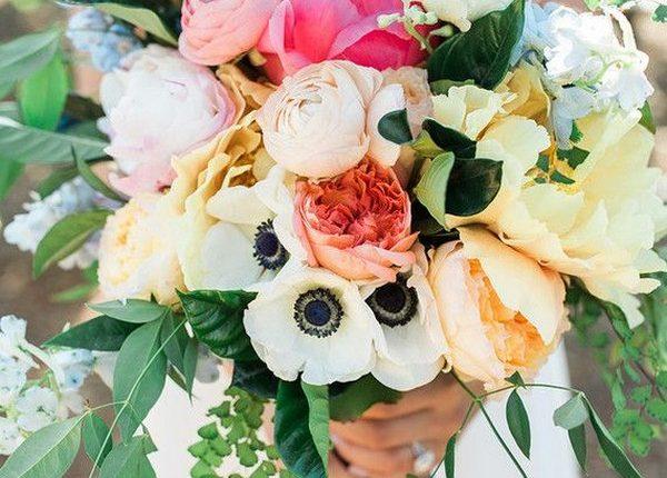 summer anemone wedding bouquet