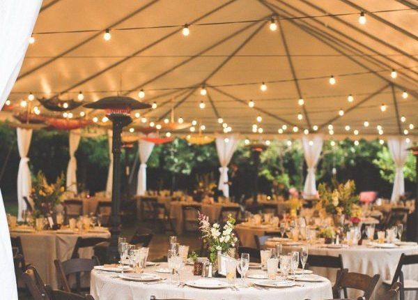 tented reception ideas for backyard weddings