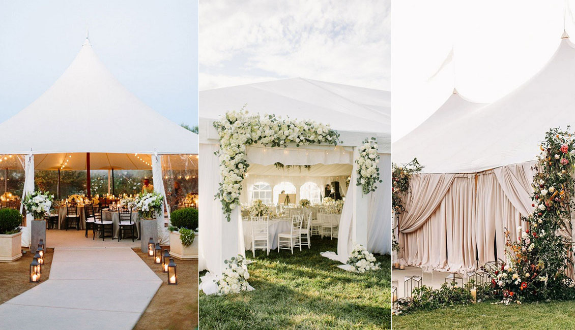 20 Tented Outdoor Wedding Decoration Ideas Roses Rings