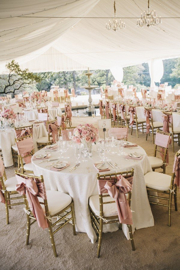 Vintage Blush And Gold Tented Wedding Reception Ideas Roses