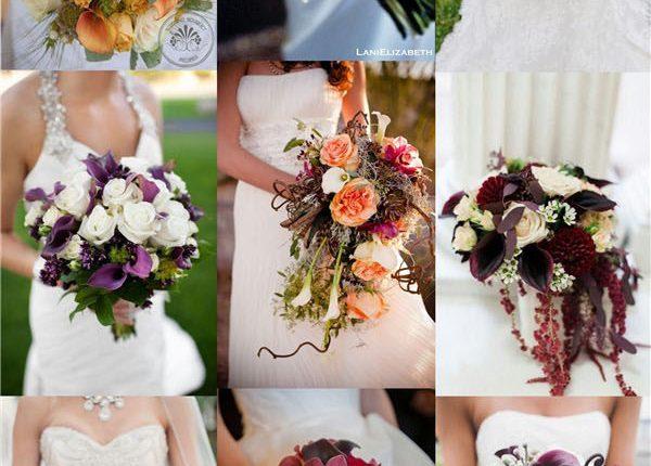wedding flower ideas- calla lily wedding bouquets