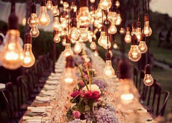 wedding reception decoration ideas with lights