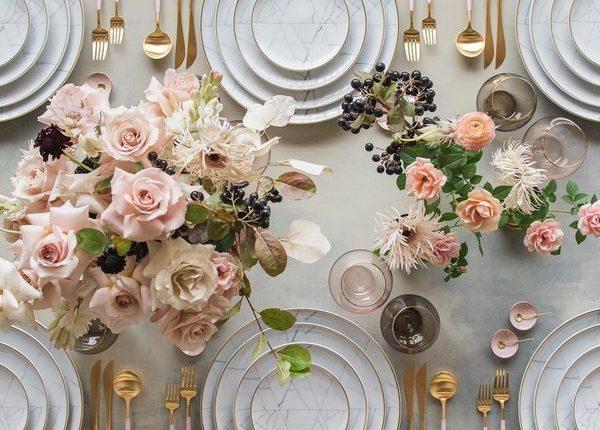 Wedding Reception Table Setting Decoration Ideas 16 | Roses ...