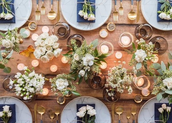 Wedding Reception Table Setting Decoration Ideas 4 | Roses & Rings ...