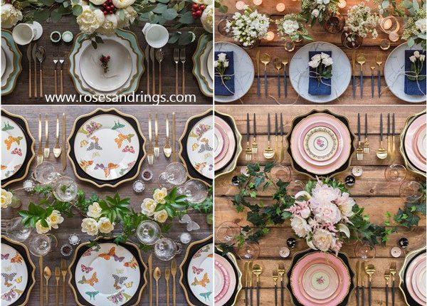 Wedding Reception Table Setting Decoration Ideas from Casadeperrin 3