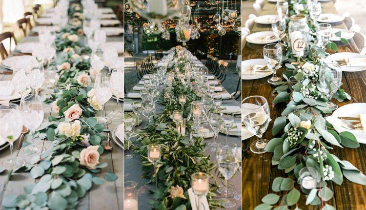 garland wedding table decoration ideas
