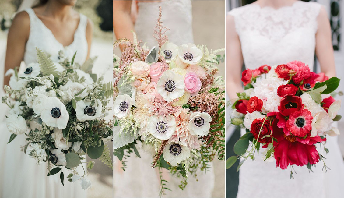 Wedding Flower Trends 2019 20 Anemone Wedding Bouquets Roses Rings