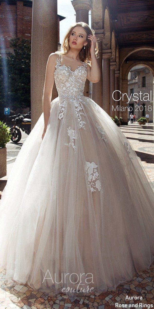 A line bohemian beach lace wedding dress CRYSTAL