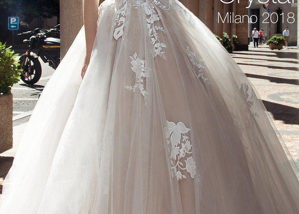 A line bohemian beach lace wedding dress CRYSTAL2