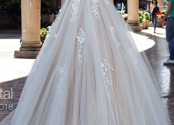 A line bohemian beach lace wedding dress CRYSTAL3