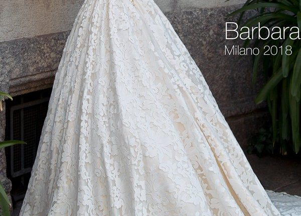 Ball gown strapless lace wedding dress BARBARA2