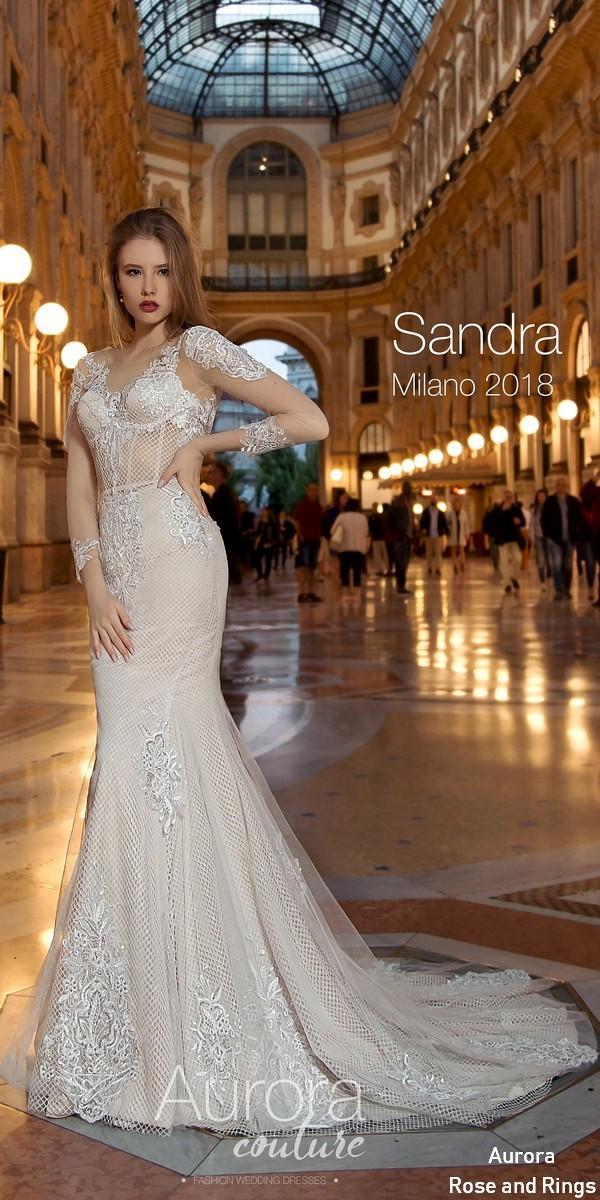 Long Sleeve Vintage Lace Wedding Dress Sandra
