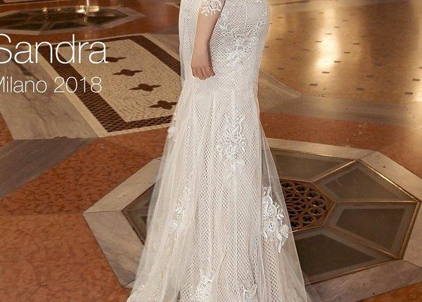 Long sleeve vintage lace wedding dress SANDRA3