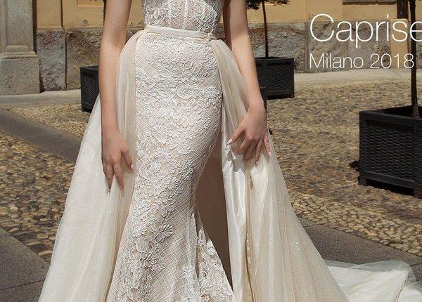 Strapless sweetheart boho Lace wedding dress CAPRISE