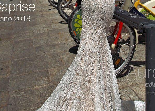 Strapless sweetheart boho Lace wedding dress CAPRISE2