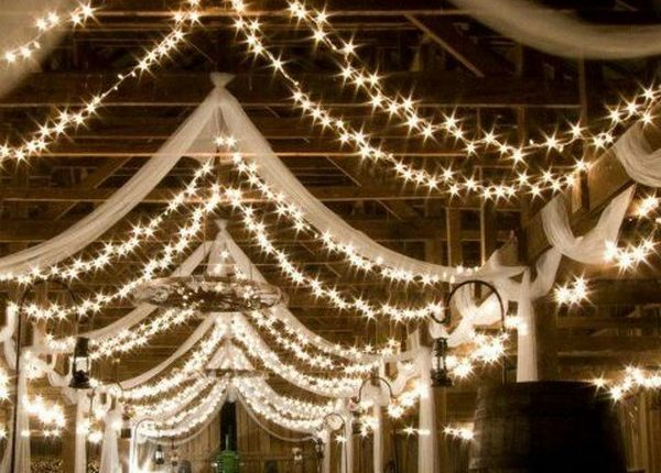 Barn Wedding Reception Ideas With D Fabric And