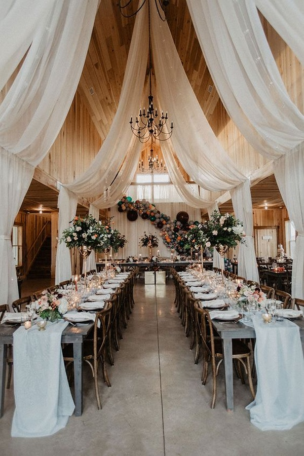 boho barn wedding reception ideas 1