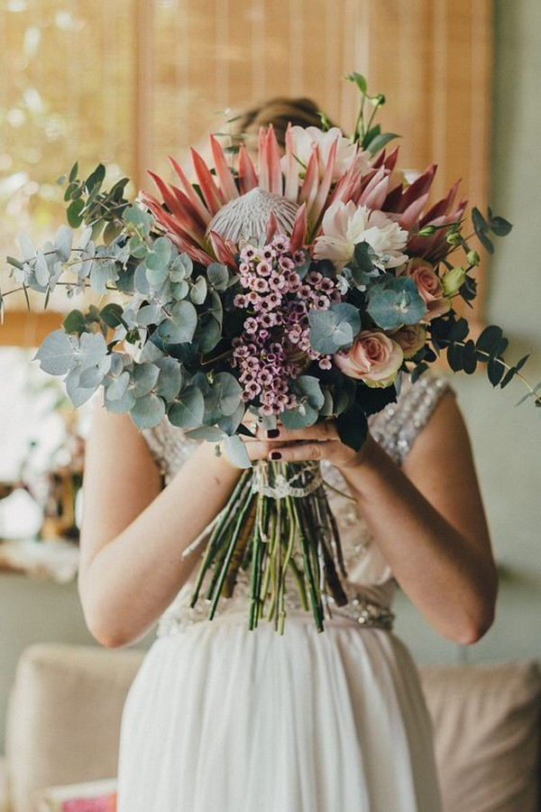Wedding Flower Trends 2019 20 Protea Wedding Bouquets