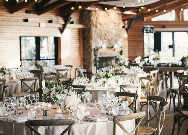 elegant barn wedding reception ideas