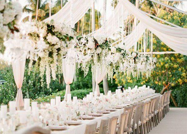 outdoor tented wedding decor ideas