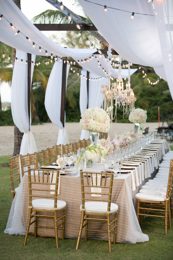 outdoor wedding reception ideas with ivory draping fabric & outdoor wedding reception ideas with ivory draping fabric | Roses ...