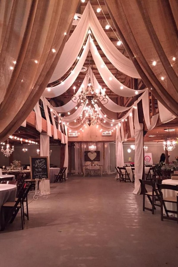 vintage barn wedding reception ideas with draping fabricvintage barn wedding reception ideas with draping fabric