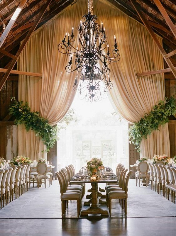 vintage barn wedding reception ideas