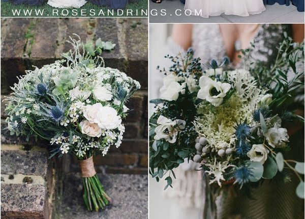 Navy blue and greenery wedding color ideas