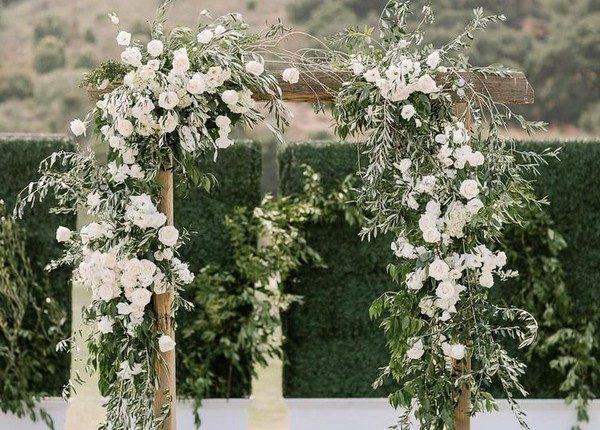 Olive Branch Wedding Arch Ideas