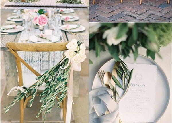 Olive Branch Wedding Decor Idea