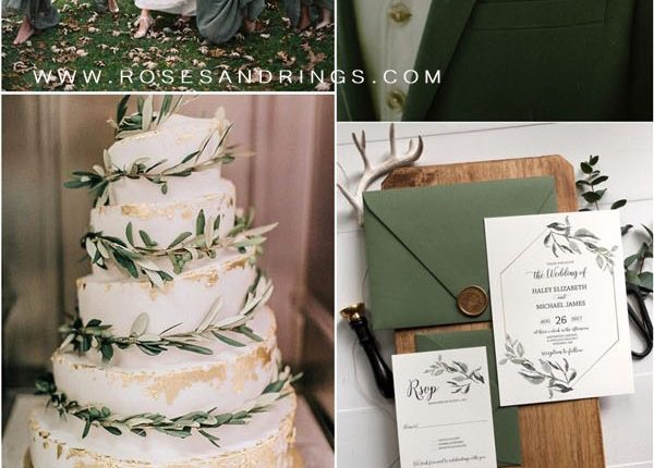 Olive green wedding color ideas