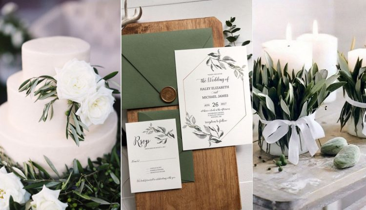 Olive green wedding color ideas1